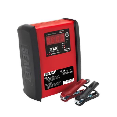 Schumacher® Intelligent Speed Charge Battery Charger 12V 15A/24V 10A - SPI1224S