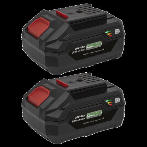 Power Tool Battery Pack 20V 4Ah Kit for SV20V Series - Sealey - BK04