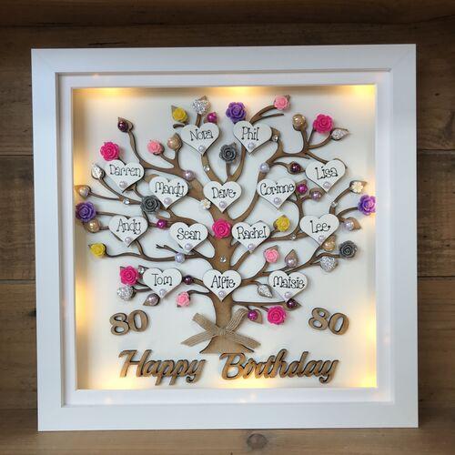 """LED XL """" Happy Birthday """" frame"""