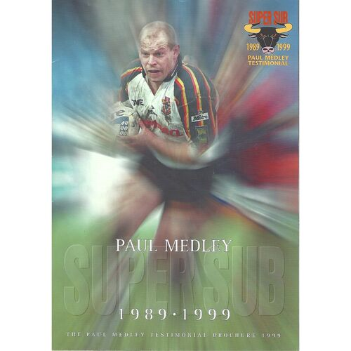 1999 Paul Medley Testimonial Brochure