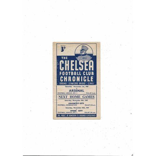 1947/48 Chelsea v Arsenal Football Programme