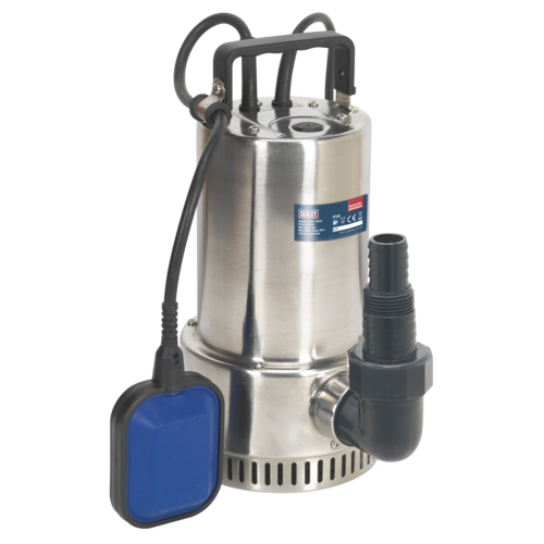 Submersible Stainless Water Pump Automatic 250L/min 230V - Sealey - WPS250A
