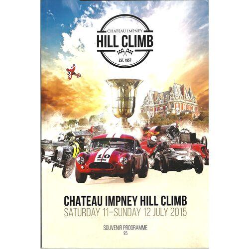 Chateau Impney Motor Racing Programmes