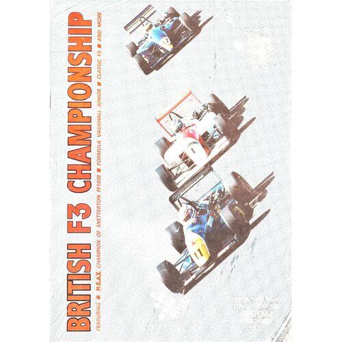 Snetterton Motor Racing/Motor Cycle Racing Programmes
