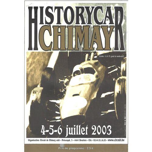 2003 Chimay Historycar (04-06/07/2003) Motor Racing Programme