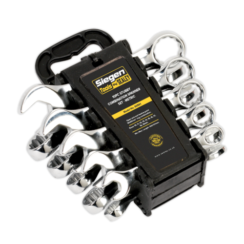 Combination Spanner Set 10pc Stubby Metric - Sealey - S0561