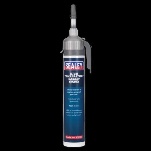 High Temperature Gasket Sealant Black 200ml - Sealey - SCS591