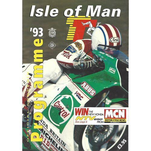 1993 Isle of Man T.T Races Motor Cycle Racing Programme & Racecard