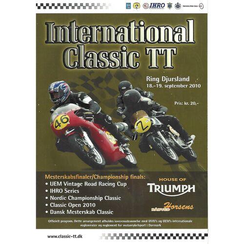 2010 Djursland International Classic TT Race Meeting (18-19/09/2010) Motor Cycle Racing Programme
