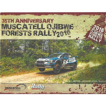 2016 Muscatell Ojibwe Forests 35th Anniversary Rally Meeting (24-27/08/2016)