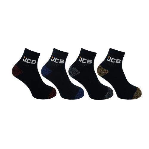 JCB Low Cut Socks - Size 6-11 UK - 4 Pairs per Pack