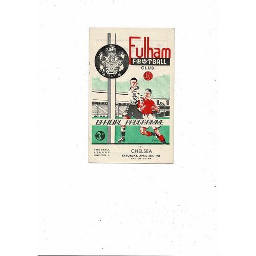 1950/51 Fulham v Chelsea Football Programme