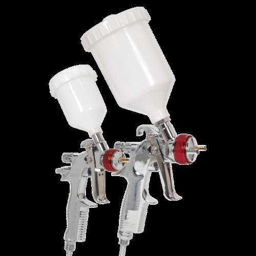 HVLP Gravity Feed Top Coat/Touch-Up Spray Gun Set - Sealey - HVLP774