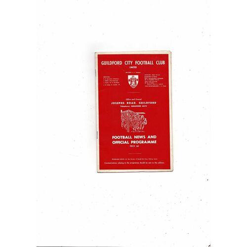 1967/68 Guildford City v Newport County FA Cup Football Programme