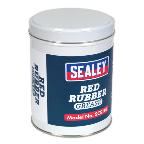 Red Rubber Grease 500g Tin - Sealey - SCS110