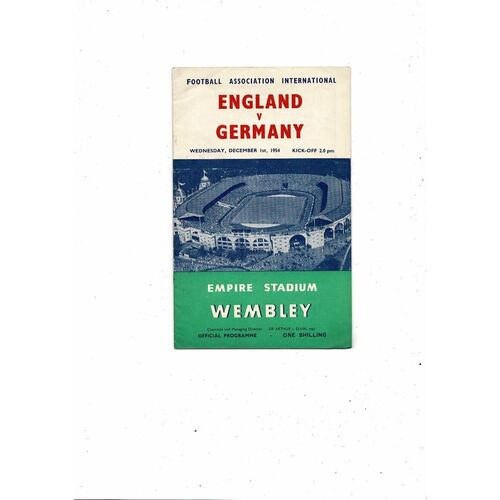 1954 England v Germany Football Programme