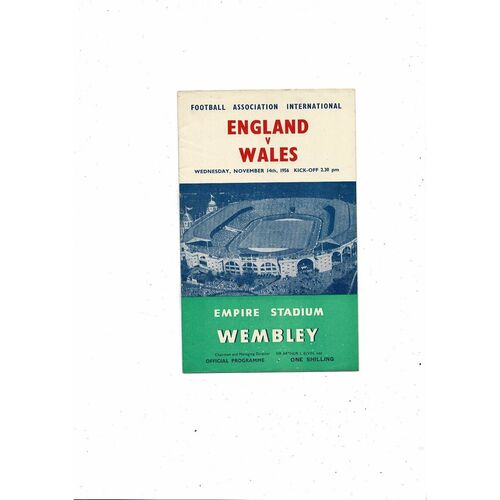 1956 England v Wales Football Programme