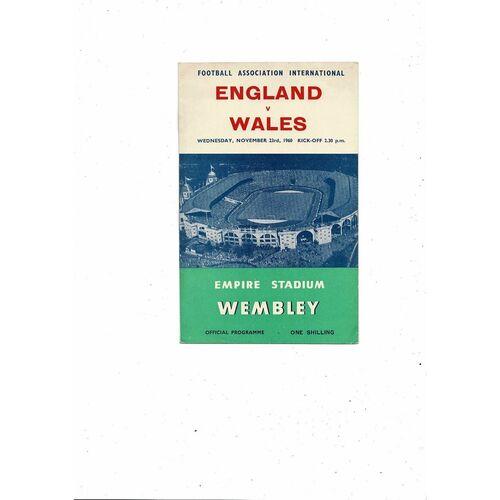 1960 England v Wales Football Programme