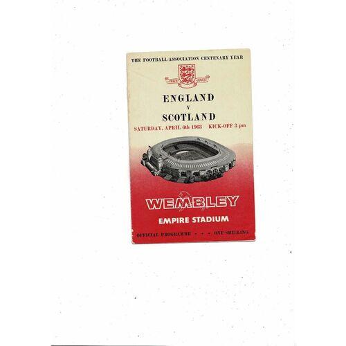1963 England v Scotland Football Programme