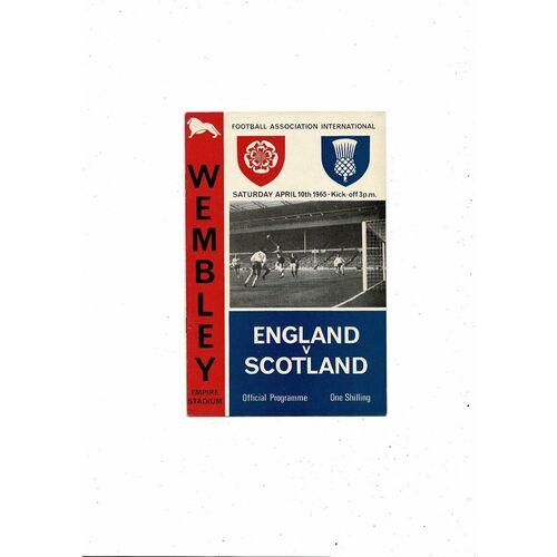 1965 England v Scotland Football Programme