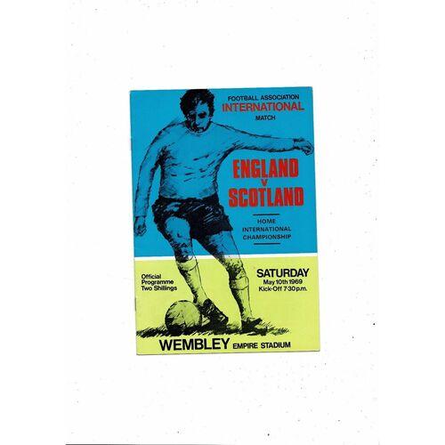 1969 England v Scotland Football Programme