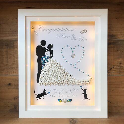 Bride and Groom 3D  light box frame