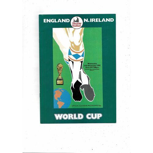1985 England v Northern Ireland Football Programme