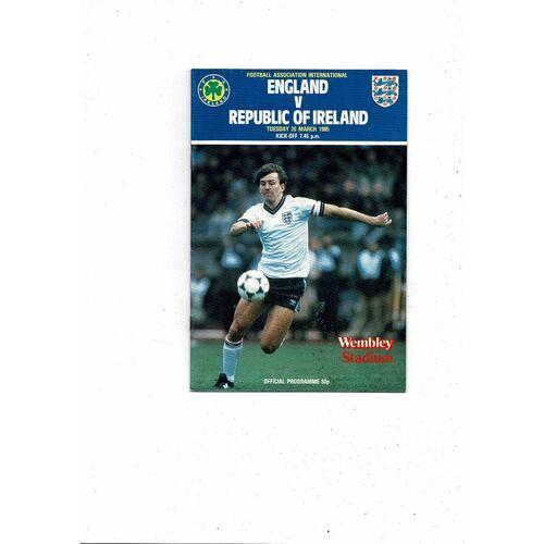 1985 England v Republic of Ireland Football Programme