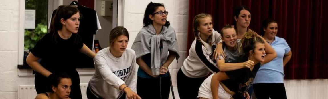 students in our youth drama course