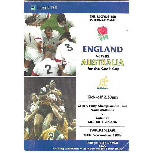 Australia Rugby Union Programmes