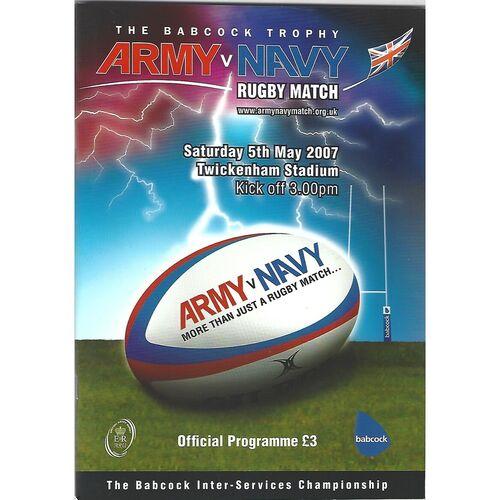 Army v Navy Rugby Union Programmes