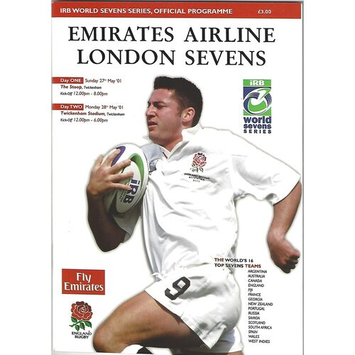 2001 London Sevens IRB World Sevens Series Rugby Union Programme