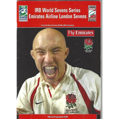 2002 London Sevens IRB World Sevens Series Rugby Union Programme