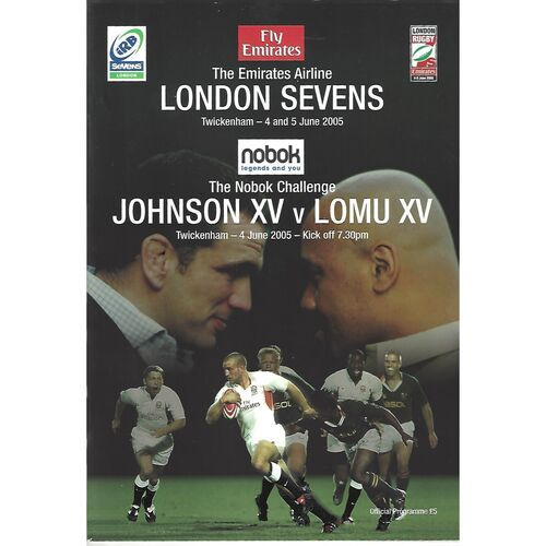 2005 London Sevens (Day 1) IRB World Sevens Series Rugby Union Programme