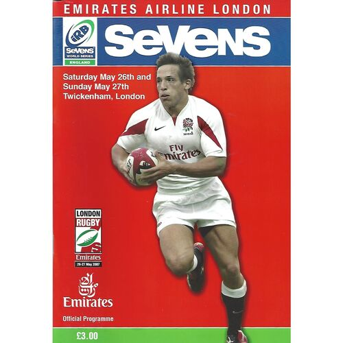 2007 London Sevens IRB World Sevens Series Rugby Union Programme