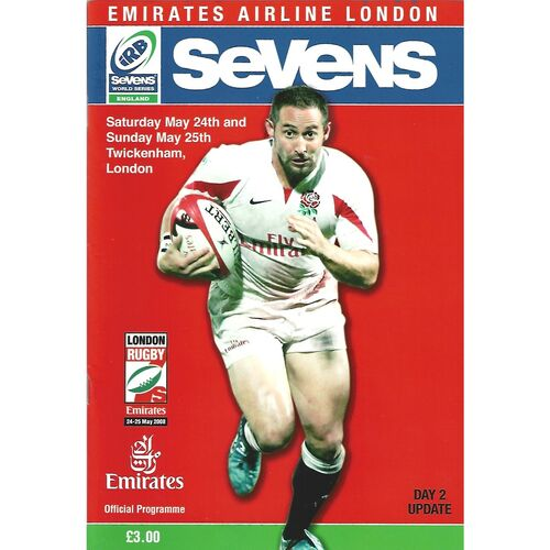 2008 London Sevens IRB World Sevens Series Rugby Union Programme
