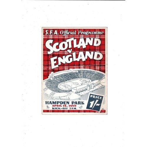 1956 Scotland v England Football Programme