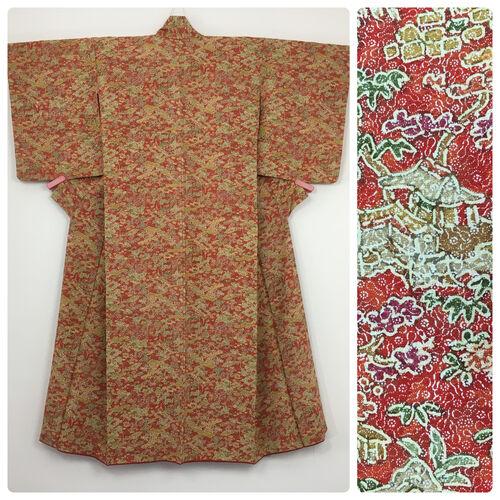 S-M, red kimono for women