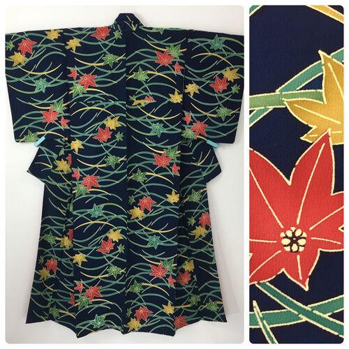 M-L, blue kimono for women