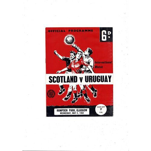 1962 Scotland v Uruguay Football Programme