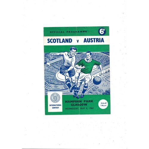 1963 Scotland v Austria Football Programme