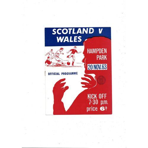 1963 Scotland v Wales Football Programme