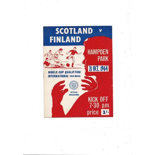 1964 Scotland v Finland Football Programme