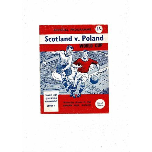 1965 Scotland v Poland Football Programme