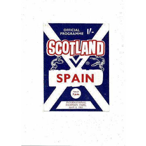 1965 Scotland v Spain Football Programme