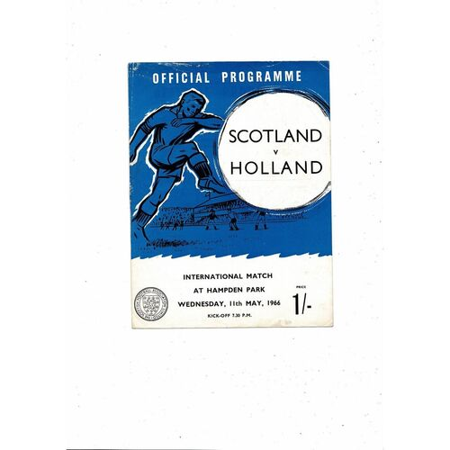 1966 Scotland v Holland Football Programme