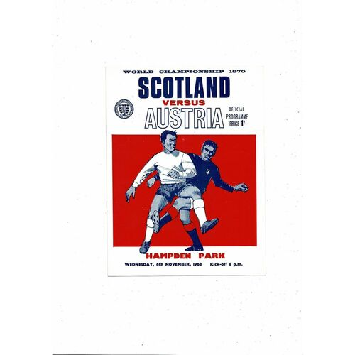 1968 Scotland v Austria Football Programme