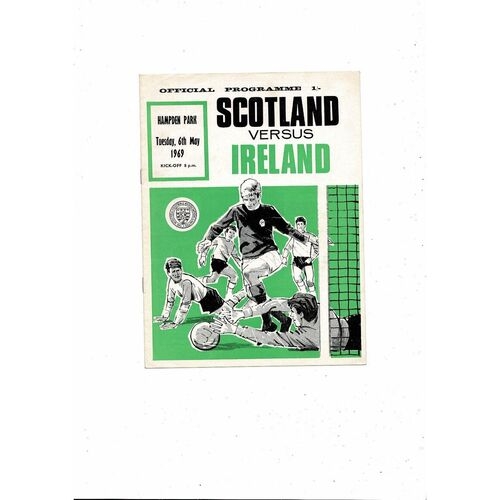 1969 Scotland v Ireland Football Programme