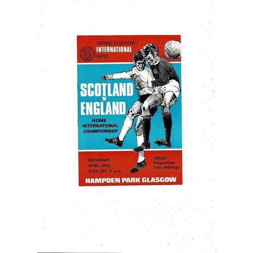 1970 Scotland v England Football Programme
