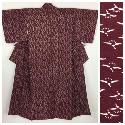 S, burgundy kimono for women